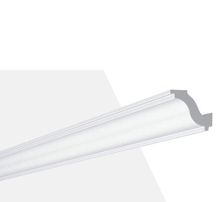 Rodateto Poliestireno H 40X50x2000mm Branco Gart- 2m