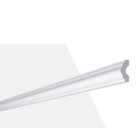 Rodateto Poliestireno I 40X15x2000mm Branco Gart- 2m