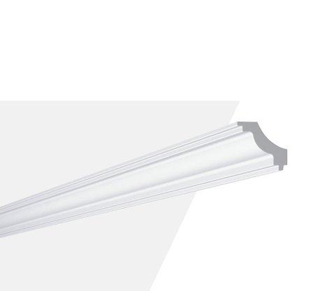 Rodateto Poliestireno J 45x50x2000mm Branco Gart- 2m