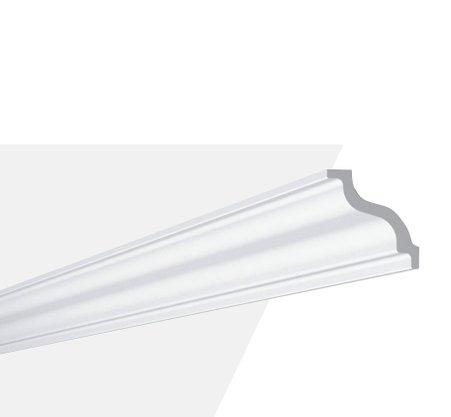 Rodateto Poliestireno K 70X70x2000mm Branco Gart- 2m