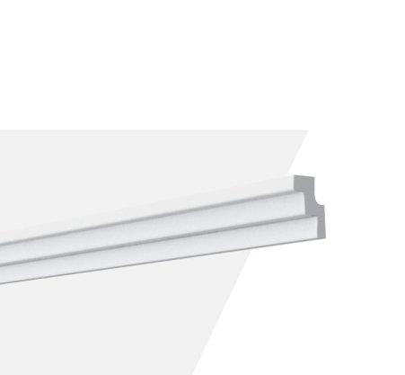 Rodateto Poliestireno K1 30x20x2000mm Branco Gart- 2m
