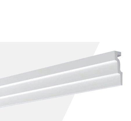 Rodateto Poliestireno M1 120x30x2000mm Branco Gart- 2m