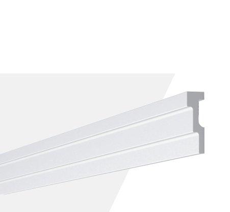 Rodateto Poliestireno M2 60x20x2000mm Branco Gart- 2m