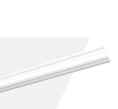 Rodateto Poliestireno O 40x20x2000mm Branco Gart- 2m