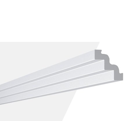Rodateto Poliestireno ST3 75X75x2000mm Branco Gart- 2m