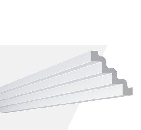 Rodateto Poliestireno ST4 130X130x2000mm Branco Gart-2m