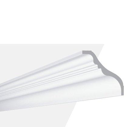Rodateto Poliestireno TI 140X140x2000mm Branco Gart-2m