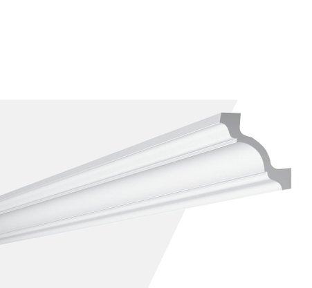 Rodateto Sanca Poliuretano Z19 80x80x2000mm Branco Gart-2m