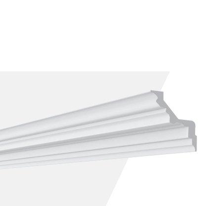 Rodateto Sanca Poliuretano Z2L 85x85x2000mm Branco Gart- 2m