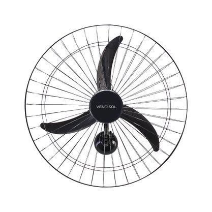 Ventilador de Parede 50cm 3 pás 220V 3 vel Preto Ventisol