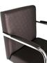 Cadeira Hera Aprox. Facto Marrom com estrutura Cromada