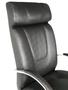 Cadeira Pres.Master Facto Preto Base Cromada Giratória