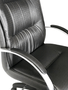 Cadeira Presidente Odin Preto com Base Preta Giratória