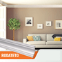 Rodateto Isopor D100 105X105x2000mm Branco- 2mts